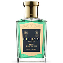 Buy Floris Rose Geranium Bath Essence, 50ml Online at johnlewis.com