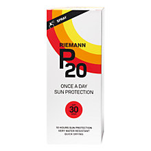 Buy Riemann P20 Once a Day SPF 30 Spray Sun Cream, 200ml Online at johnlewis.com