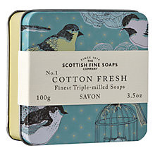 Buy Scottish Fine Soaps Soap In a Tin Cotton Fresh, 100g Online at johnlewis.com