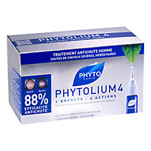 Buy Phyto Phytolium 4 Men's Hair Thinning Treatment, 12 x 3.5ml Online at johnlewis.com