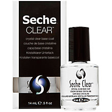 Buy Seche Clear™ Crystal Clear Base Coat, 14ml Online at johnlewis.com