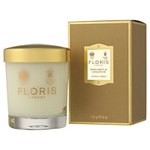 Buy Floris Bergamot & Geranium Scented Candle, 175g Online at johnlewis.com