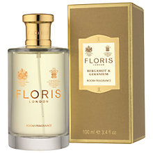 Buy Floris At Home Bergamot & Geranium Room Spray, 100ml Online at johnlewis.com