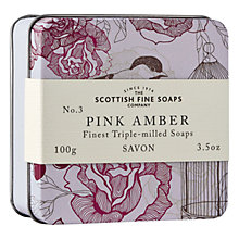Buy Scottish Fine Soaps Soap In A Tin Pink Amber, 100g Online at johnlewis.com