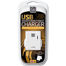 Buy Go Travel Twin USB Charger Online at johnlewis.com
