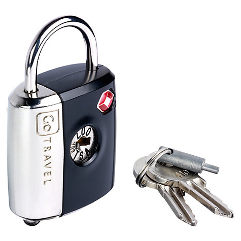 Buy Go Travel 337 TSA Dual Combi and Key Padlock, Assorted Colours Online at johnlewis.com