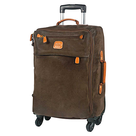 Buy Bric's Life 4-Wheel Cabin Suitcase, Olive Online at johnlewis.com