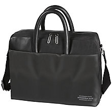 Buy Mandarina Duck Ebisu Large Leather Briefcase, Black Online at johnlewis.com