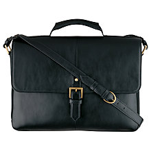 Buy Hidesign Charles Leather Briefcase, Black Online at johnlewis.com