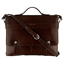 Buy Hidesign Byron Leather Briefcase, Brown Online at johnlewis.com