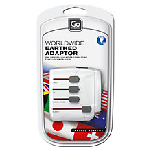 Buy Go Travel 407 Worldwide Earthed Adapter Online at johnlewis.com