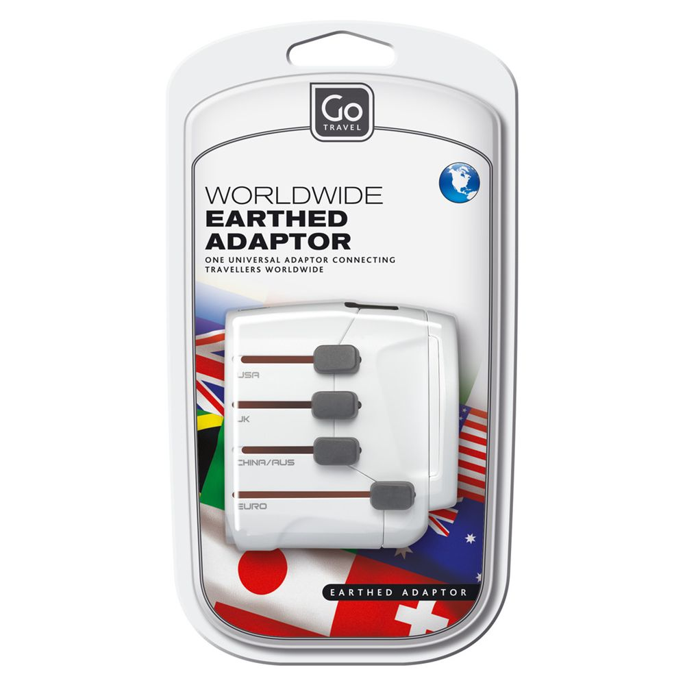 Go Travel Go Travel 407 Worldwide Earthed Adapter
