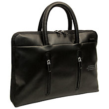 Buy Mandarina Duck Ebisu Slim Leather Briefcase Online at johnlewis.com