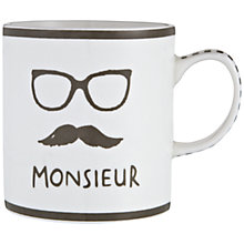 Buy John Lewis Monsieur Mug Online at johnlewis.com