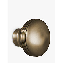 Buy John Lewis Antique Brass Ribbed Ball Finial, Dia.28mm Online at johnlewis.com