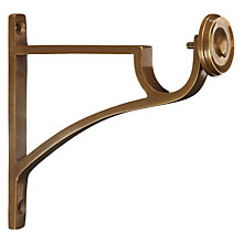 Buy John Lewis Solid Brass Side Bracket, Dia.28mm Online at johnlewis.com