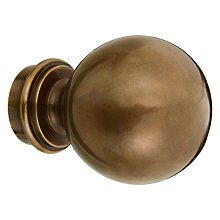 Buy John Lewis Solid Brass Ball Finial, Dia.28mm Online at johnlewis.com