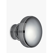 Buy John Lewis Chrome Ribbed Ball Finial, Dia.28mm Online at johnlewis.com
