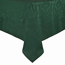 Buy John Lewis Damask Round Tablecloth, Dia.180cm, Green Online at johnlewis.com