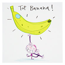 Buy Black Olive Top Banana Congratulations Greeting Card Online at johnlewis.com