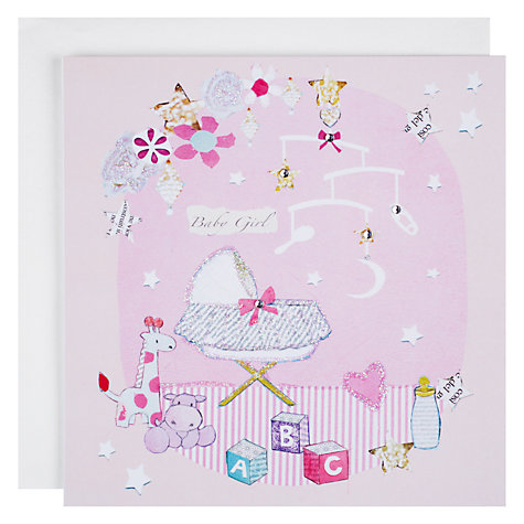 Buy Hammond Gower Nursery Baby Girl Card Online at johnlewis.com
