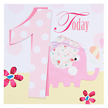 Buy Black Olive Elephant 1st Birthday Card Online at johnlewis.com