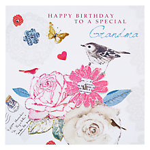 Buy Hammond Gower Bird and Floral Birthday Card Online at johnlewis.com