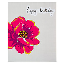 Buy Saffron Camelia Rose Birthday Card Online at johnlewis.com