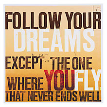 Buy Urban Graphic Follow Your Dreams Greeting Card Online at johnlewis.com
