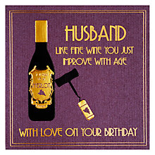 Buy Five Dollar Shake Improve With Age Husband Birthday Card Online at johnlewis.com