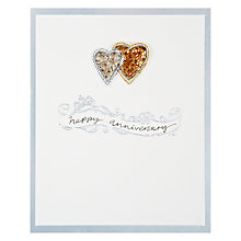 Buy Saffron Silver and Gold Happy Anniversary Card Online at johnlewis.com