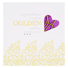 Buy Valerie Valerie Golden Anniversary Card Online at johnlewis.com