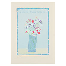 Buy James Ellis Stevens Grandma Flowers Birthday Card Online at johnlewis.com