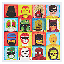 Buy Urban Graphic Heroes and Villains Greeting Card Online at johnlewis.com