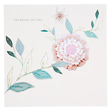 Buy Black Olive Thinking Cornsilk Sympathy Card Online at johnlewis.com