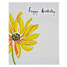 Buy Saffron Yellow Petals Birthday Card Online at johnlewis.com
