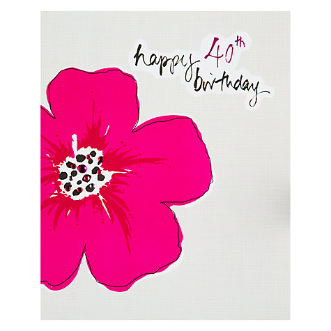 Buy Saffron 40th Cerise Birthday Card Online at johnlewis.com