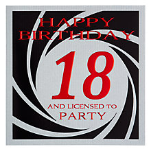 Buy Five Dollar Shake 18th Licensed to Party Birthday Card Online at johnlewis.com