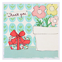 Buy Saffron Present Thank You Card Online at johnlewis.com