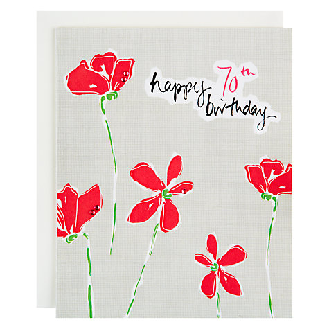 Buy Saffron 70th Happy Birthday Card Online at johnlewis.com