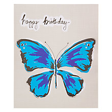 Buy Saffron Indigo Butterfly Birthday Card Online at johnlewis.com