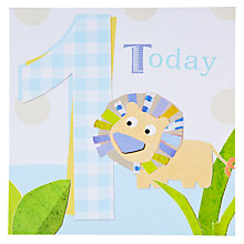 Buy Black Olive Lion 1st Birthday Card Online at johnlewis.com