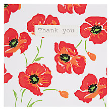 Buy Saffron Bright Poppies Thank You Card Online at johnlewis.com