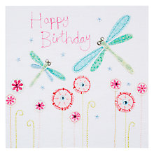 Buy Blue Eyed Sun Vintage Dragonflies Birthday Card Online at johnlewis.com