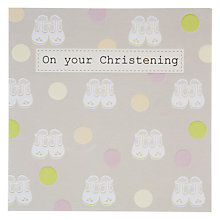 Buy Saffron Christening Baby Shoes Card Online at johnlewis.com