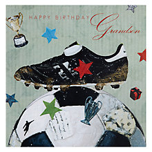 Buy Hammond Gower Football and Boot Birthday Card Online at johnlewis.com
