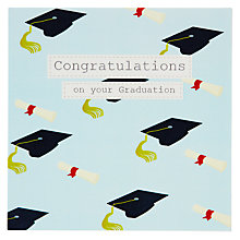 Buy Saffron  Congratulation Graduation Greeting Card Online at johnlewis.com