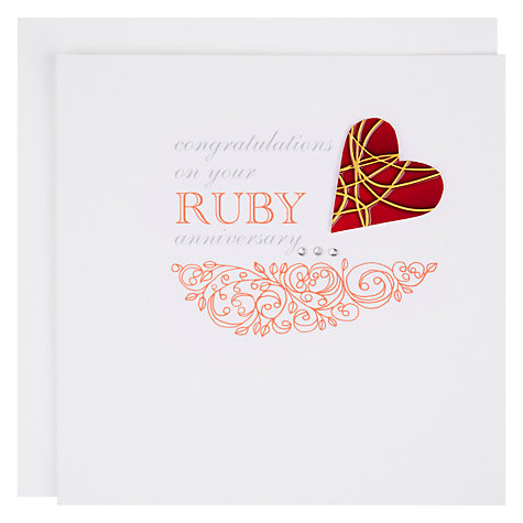 Buy Valerie Valerie Ruby Anniversary Card Online at johnlewis.com