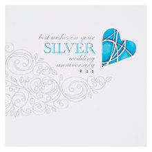 Buy Valerie Valerie Silver Anniversary Card Online at johnlewis.com