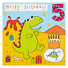 Buy Twizler Dino 5th Birthday Card Online at johnlewis.com